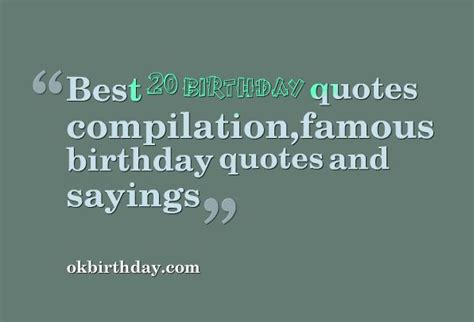 Best Birthday Quotes For Famous Birthday Quotes Wishes Quotesgram