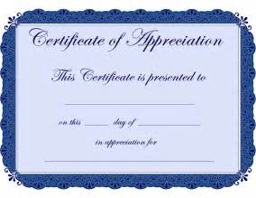 Appreciation Certificate Templates by Appreciation Certificate Template Certificate Templates