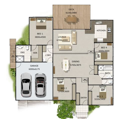 4 bedroom split level floor plans split level house plan 4 bedroom sloping land house plan