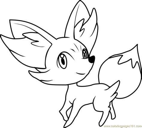 pokemon coloring pages fennekinkids coloring pages