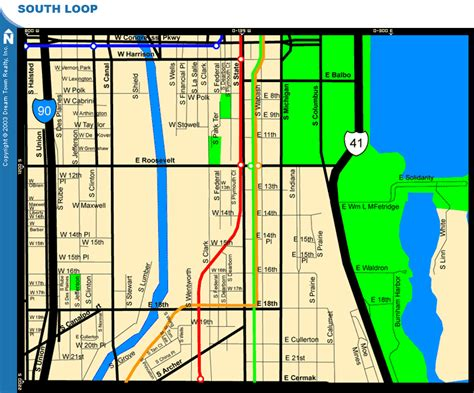 chicago map of the loop chicago map west loop