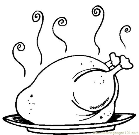 Cooked Turkey Coloring Page Free | coloring pages turkey cooked 17 holidays gt thanksgiving