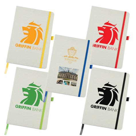 Linen Notebook With Pen silveradoh promotional products australia civic a5 linen