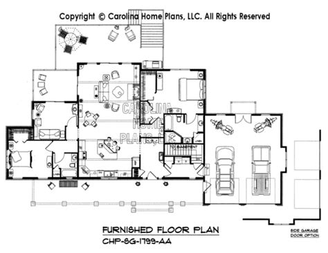 home floor plans carolina 3d images for chp sg 1799 aa small craftsman style 3d
