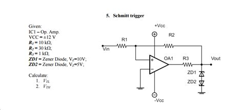 zd1 diode trigger given ic1 op vcc plusmi chegg