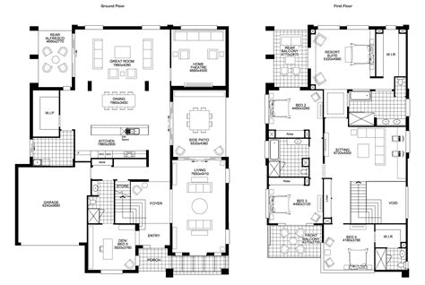 four bedroom double storey house plan floor plan friday big double storey with 5 bedrooms