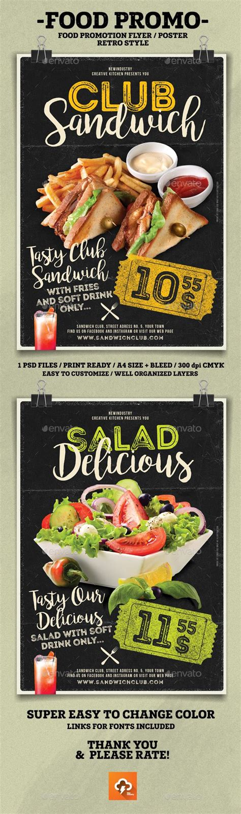 templates for promotional flyers food promotion flyer poster psd templates promotion and