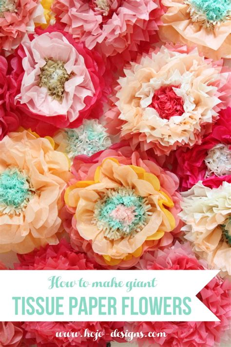 How To Make Tissue Paper Flowers Large - how to make tissue paper flowers
