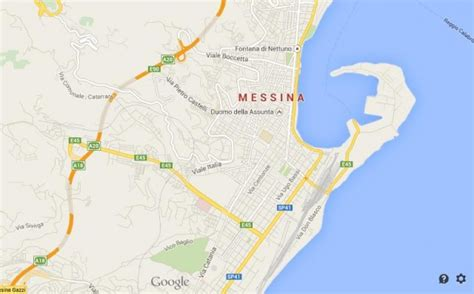 messina map messina northeast of sicily world easy guides
