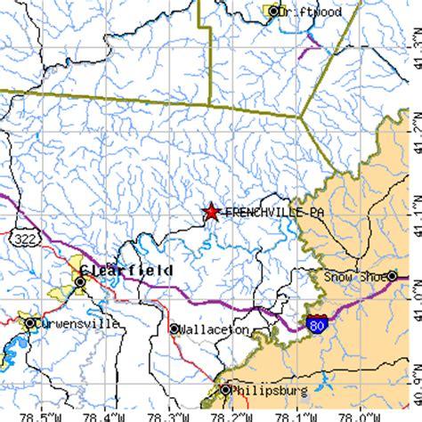 us area code pa frenchville pennsylvania pa population data races