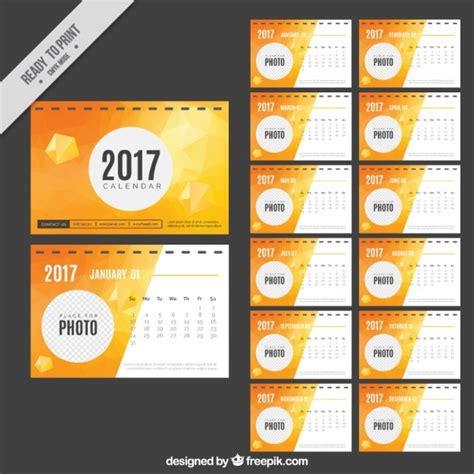 Calendario Vector Abstract 2017 Calendar Vector Free