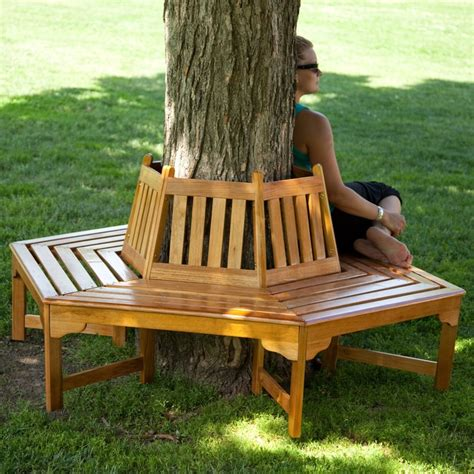 wooden tree bench coral coast fillmore wood outdoor hexagonal tree bench www