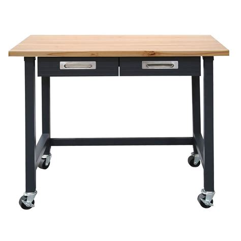 bench wheels seville classics ultragraphite 4 ft mobile workbench with
