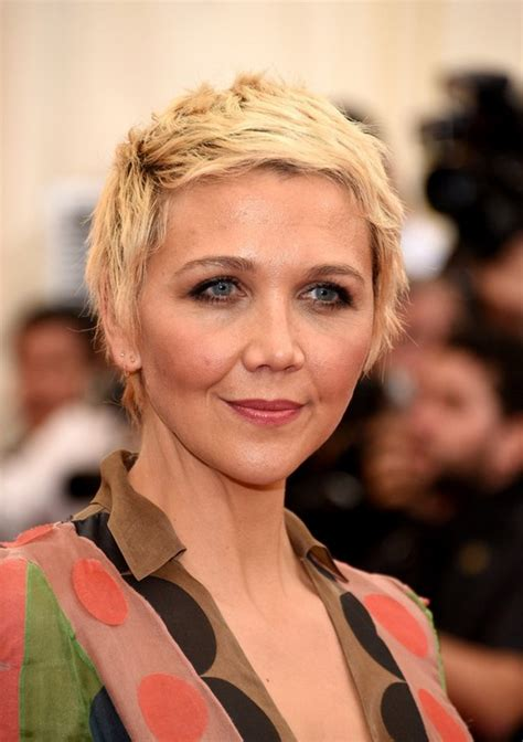Maggie Gyllenhaal Boyish Edgy Short Blonde Pixie Cut for