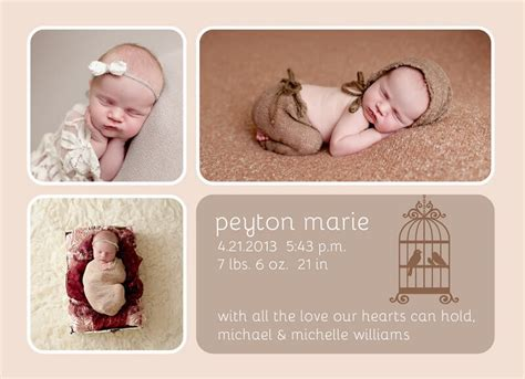 free baby birth announcement templates baby shower ideas