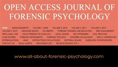 forensic psychology psychology and created by on