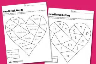 heartbreak worksheets paging supermom