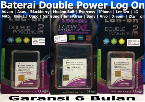 Baterai Evercoss A74f 3600mah Power Log On jual new baterai log on advan s5e s5e plus batreoriginaldouble power promo diskon obral grosir