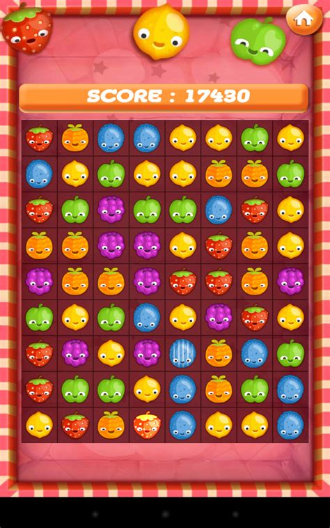 amazoncom fruit match  game fun cool puzzle game