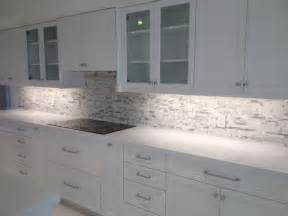 Installing Backsplash Tile In Kitchen Arctic Snow Quartz Countertops Calacatta Marble Mosaic