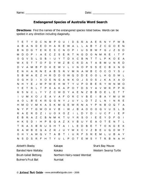 Endangered Species Worksheet by Endangered Species Worksheets Worksheets Releaseboard
