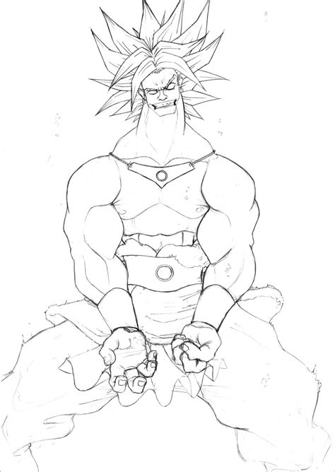 broly coloring pages broly ss3 free coloring pages