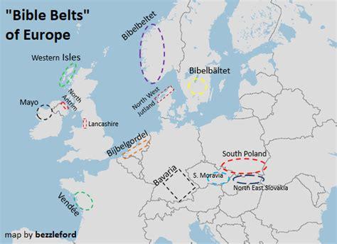 bible belts  europe vivid maps