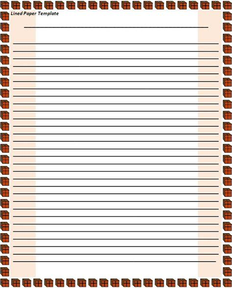 notebook paper template for word clipart best