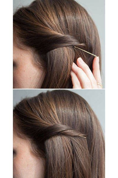 Hairstyles Using Hair Pins by 1000 Ideas About Bobby Pin Hairstyles On