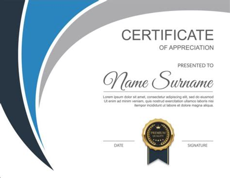 design certificate vector exquisite certificate design vector 02 vector cover free
