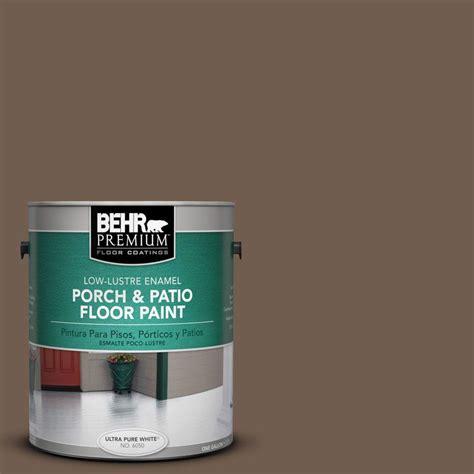 Behr Porch And Patio Floor Paint by Behr Premium 1 Gal Pfc 35 Rich Brown Low Lustre Porch