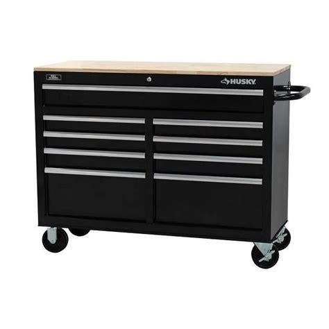 husky tool bench husky 40 in 10 drawer black tool chest cabinet set 46 in