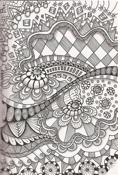 doodle patterns for colouring doodle zentangle pinterest
