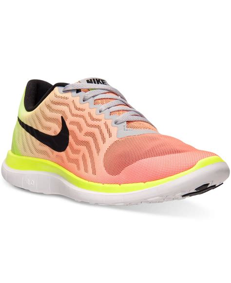 finish line running shoes for lyst nike s free 4 0 v5 print running sneakers