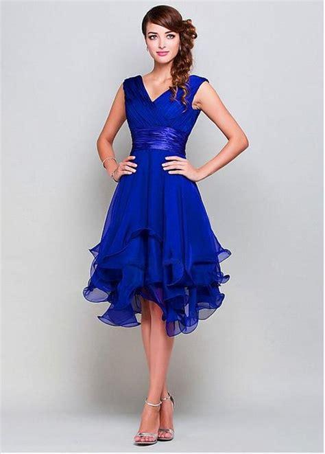cocktail jurken koningsblauw jurk koningsblauw