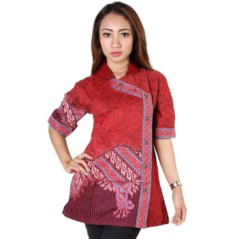 Rok Celana Renda 20 model baju batik atasan kombinasi kain polos terbaru 2018 mangklingi