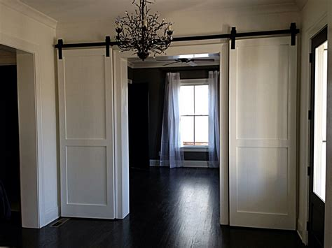 Installing Sliding Barn Doors For Interior Novalinea Installing A Sliding Barn Door