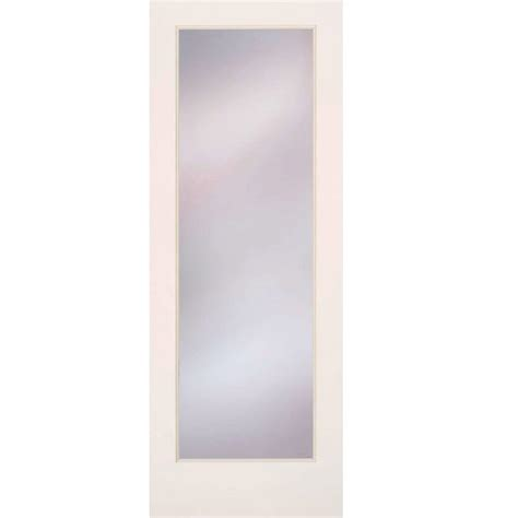 frosted glass interior doors home depot feather river doors 24 in x 80 in privacy smooth 1 lite