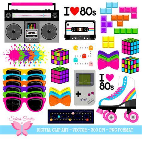 80 s love songs medley free download 80s clipart set digital clipart clip art 1980s set