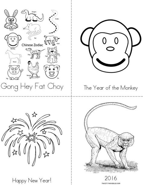 new year printable booklet new year book twisty noodle