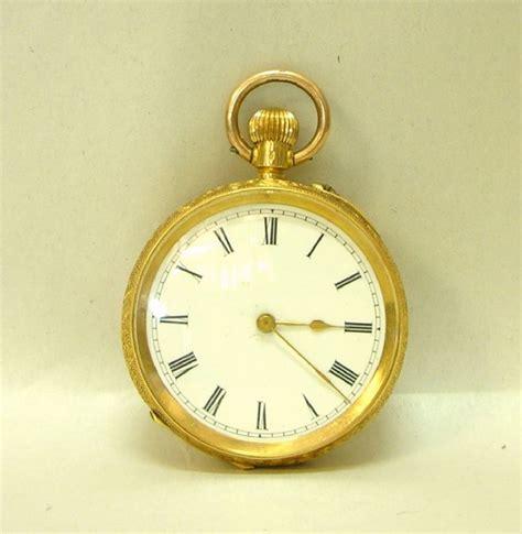 18kt gold pocket pocket watches clocks