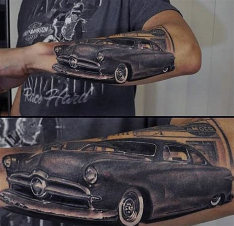 old car tattoo designs 70 car tattoos for cool automotive design ideas