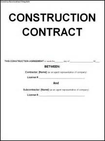 construction contract template word templates