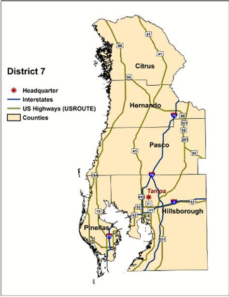 florida dot district map florida department of transportation district 7 surveying