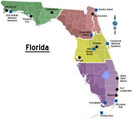 where is florida on a map file map of florida regions with cities png wikitravel