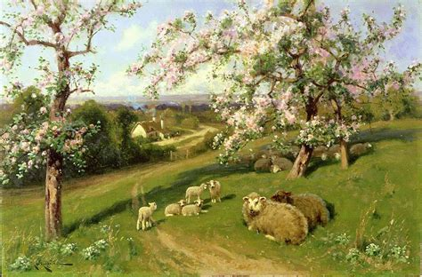 spring paint spring one of a set of the four seasons painting by