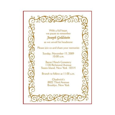 invitation cards templates unveiling tombstone invitation cards for a tombstone unveiling worthy sles