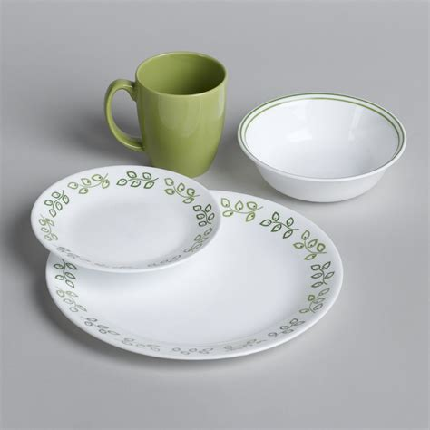 leaf pattern dinnerware set corelle 16pc livingware neo leaf dinnerware set home