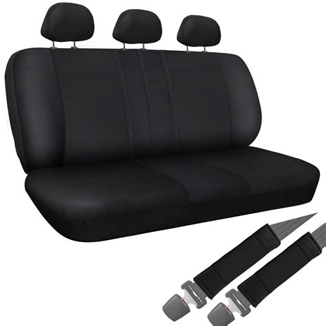 seat covers toyota trucks truck seat covers for toyota tacoma 8pc bench black w belt