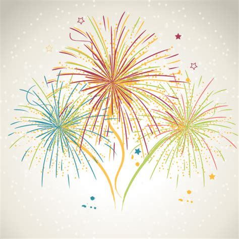 how to draw new year firecrackers fireworks with vector background vector